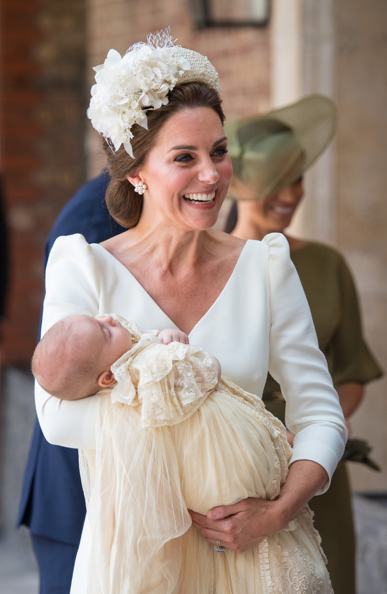 Duchess Kate with Prince Louis