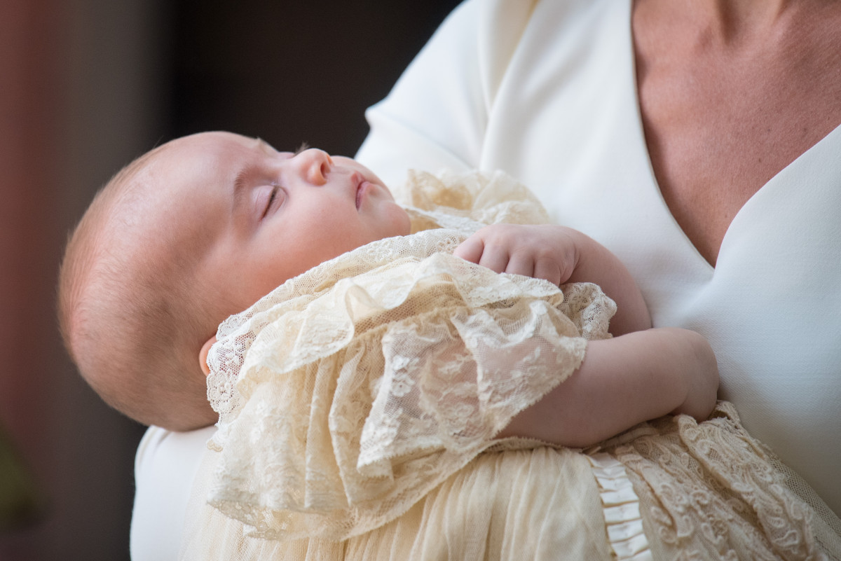prince louis at his christening