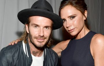DAvid and Victoria Beckham at the opening of the Ken Paves Salon
