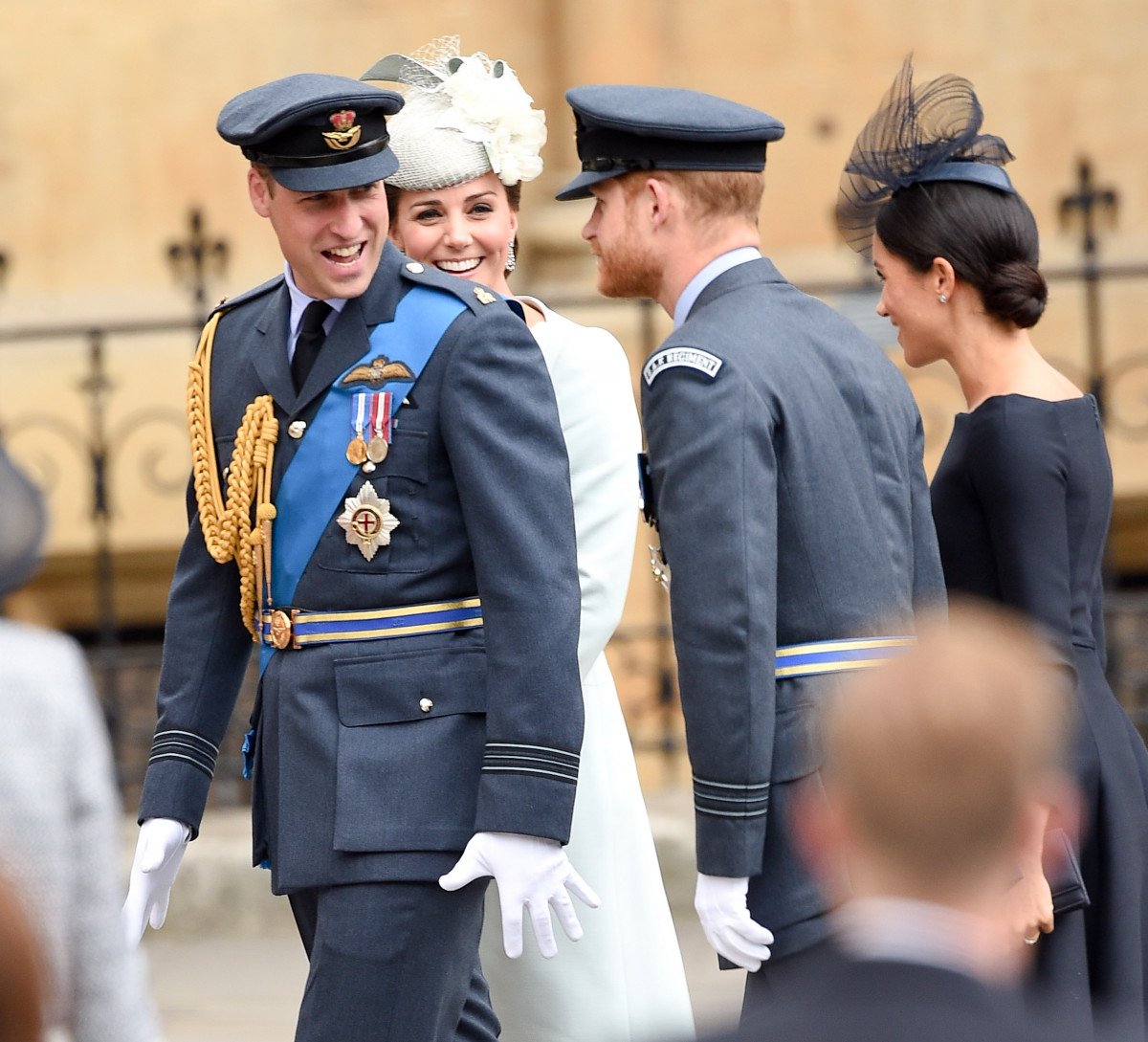 The Queen and other Members of the Royal Family attend Westminster Abbey to mark the centenary of the RAF