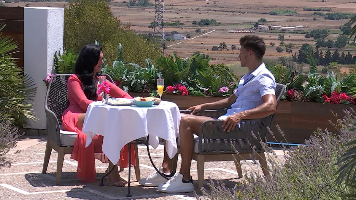 Love Island's Alexandra and Jack on a date