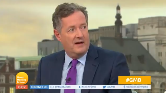 "Piers Morgan says England footballers ""not heroes"""