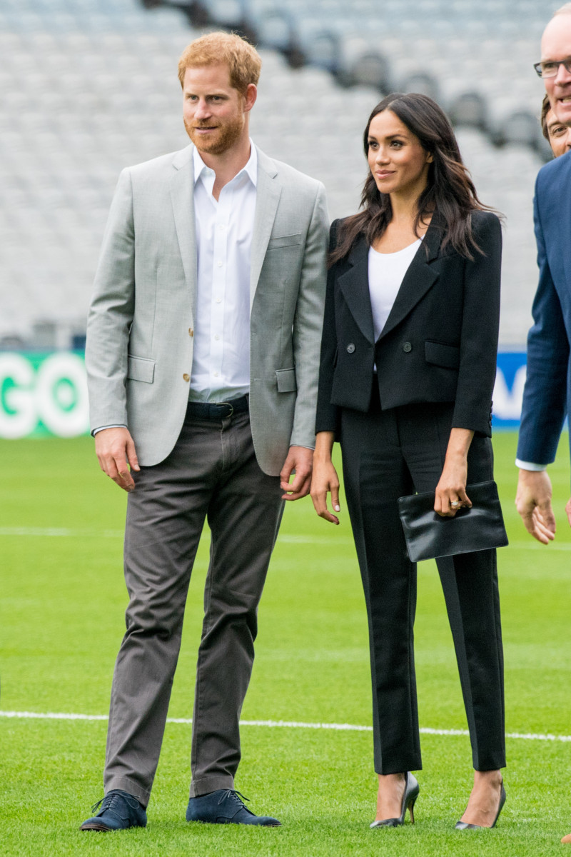 Prince Harry And Meghan Duchess Of Sussex Visit Croke Park In Dublin