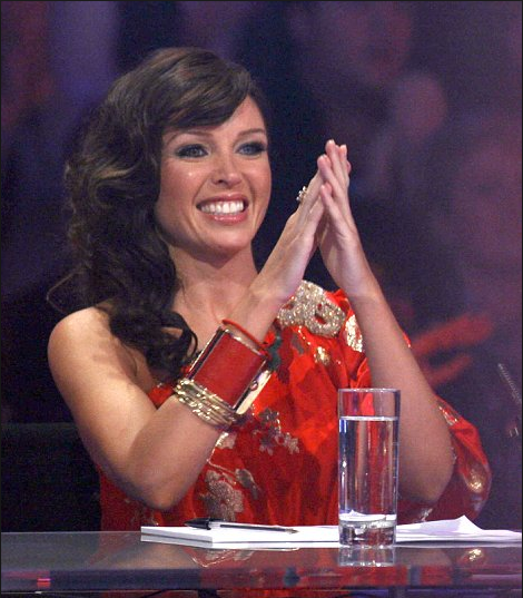 Dannii Minogue as a judge on The X Factor UK (Credit: ITV1)
