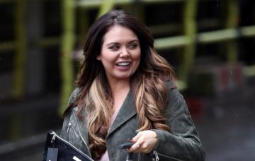 Scarlett Moffatt Leaves Heat Radio Studios In London