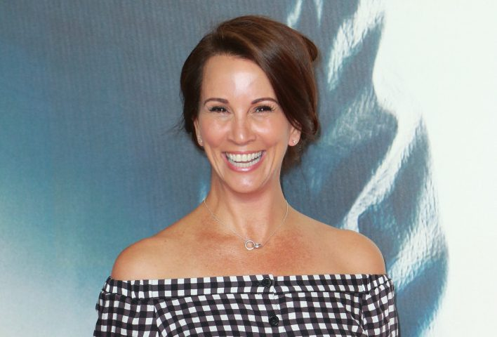 Andrea McLean shares rare pic with son Finlay at movie premiere