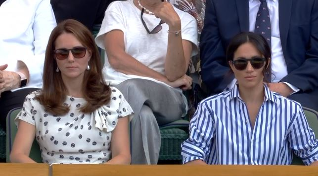 Duchess of Cambridge and Sussex watch Serena Williams at WImbledon