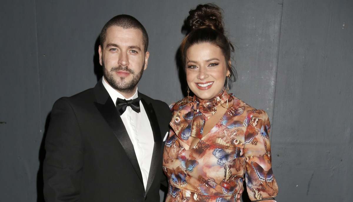 Shayne Ward's daughter visits him and mum Sophie Austin on set in cute pics