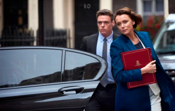 Keeley Hawes and Richard Madden, The Bodyguard
