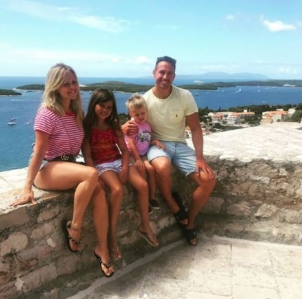 Tina O'Brien on holiday in Croatia with her family