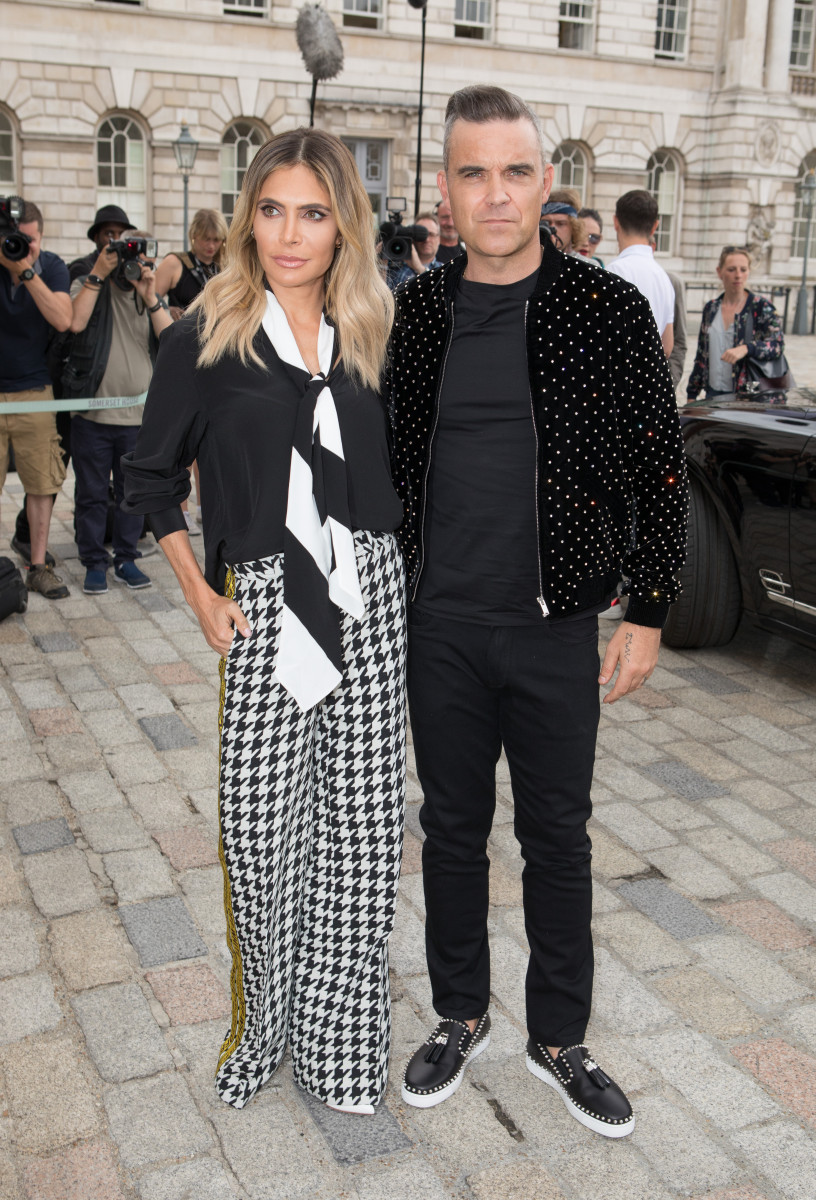 Robbie Williams and Ayda Field, Judges attend X Factor Press Conference