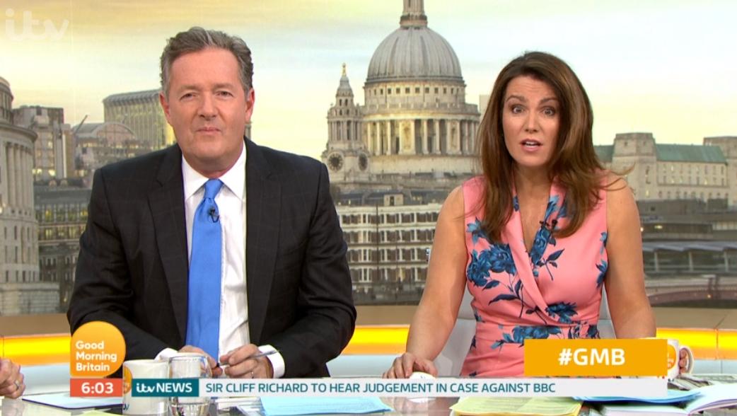 Piers Morgan and Susanna Reid on GMB