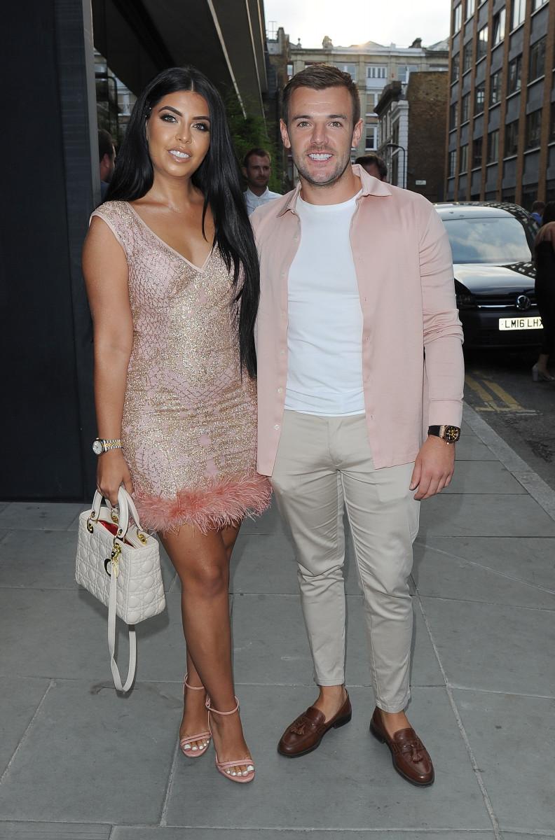 Cara De La Hoyde and Nathan Massey arriving at the ITV Gala at Nobu Hotel