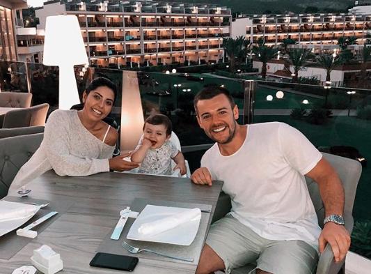 Cara de la Hoyde and Nathan Massey with son Freddie