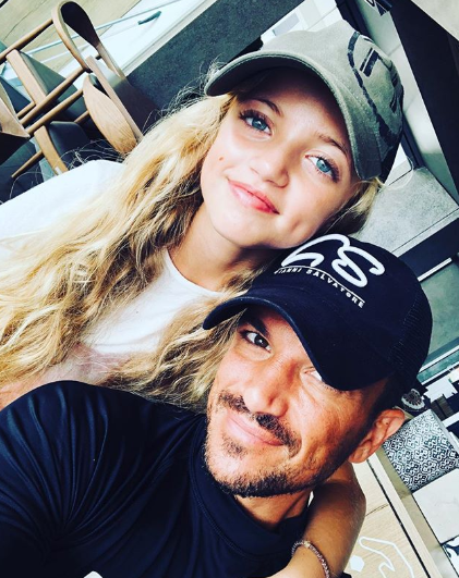 Peter Andre and his daughter Prnicess