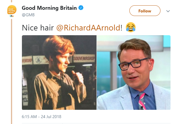 Richard Arnold then and now (Credit: Twitter)