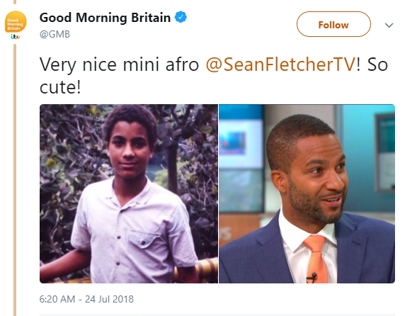 Sean Fletcher then and now (Credit: Twitter)