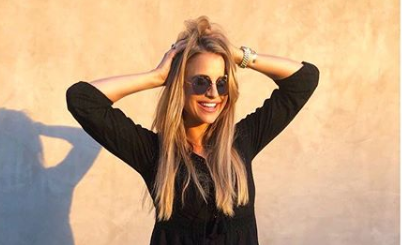 Pregnant Vogue Williams seeks advice on coping in the heatwave