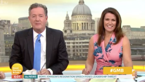 Piers Morgan and Susanna Reid on Good Morning Britain (Credit: ITV)