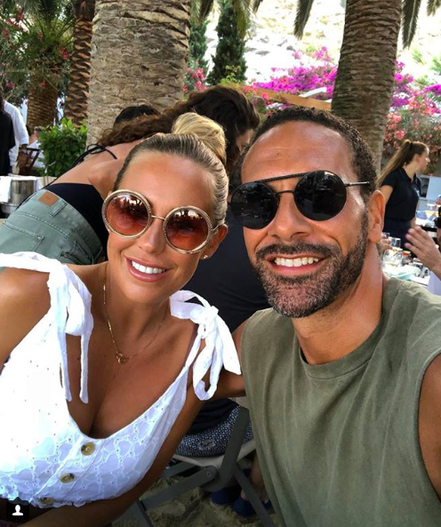 kate wright rio ferdinand on holiday instagram