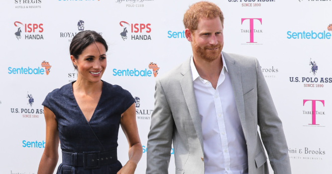 Meghan arrives to cheer on husband Harry at charity polo match