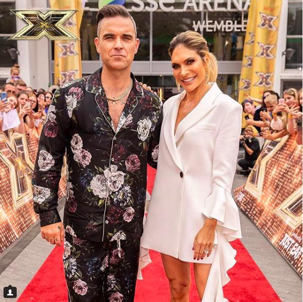 robbie williams ayda x factor instagram