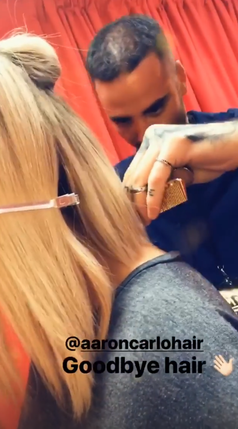 Perrie Edwards cutting her hair