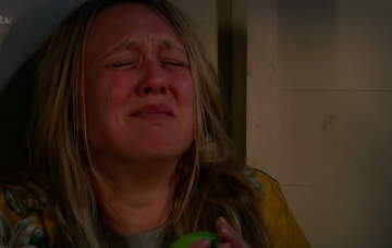 Emmerdale fans spot blunder as Rebecca White is chained up in a cabin