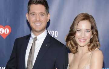 Michael Buble (L) and Luisana Lopilato attend Tony Bennett Celebrates 90