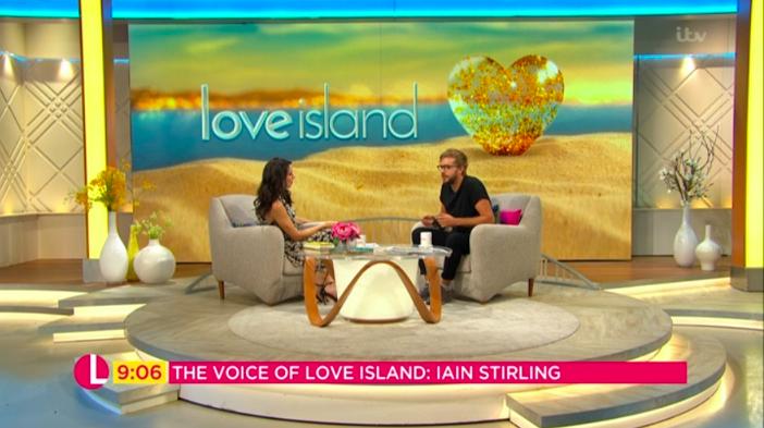 love island lorraine iain stirling christine lampard itv
