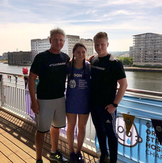 Gordon Ramsay with daughter Megan and son Jack