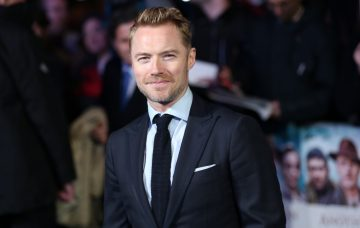 "Ronan Keating and wife Storm attend the world premiere for ""Another Mother's Son"" in London"