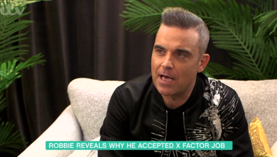 Robbie Williams on why he really became an X Factor judge