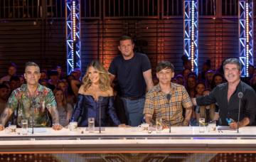 X Factor judges 2018 with Dermot O'leary (Credit: ITV)