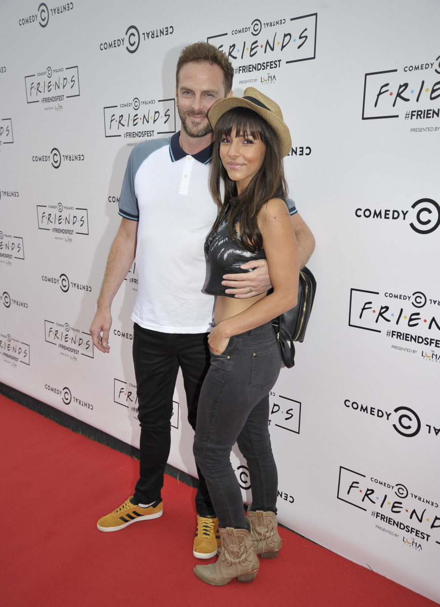 Roxanne Pallett and Lee Walton Pictured In Wedding Dress And Suit At The Comedy Gold Friendsfest At Heaton Park In Manchester