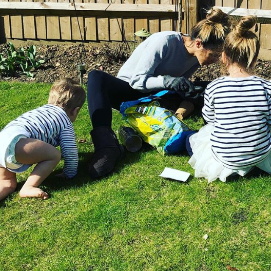 Peter Andre's wife Emily and their two kids
