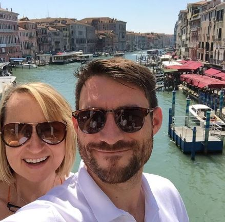 Carol McGiffin and Mark Cassidy in Venice