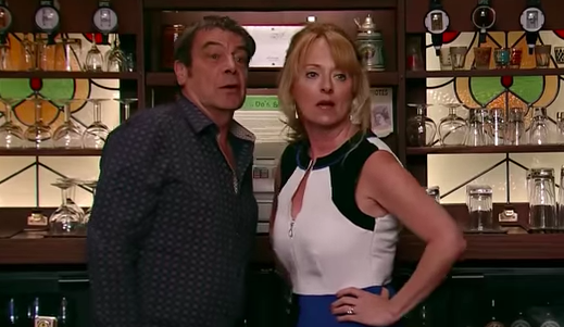 Jenny and Johnny in Coronation Street