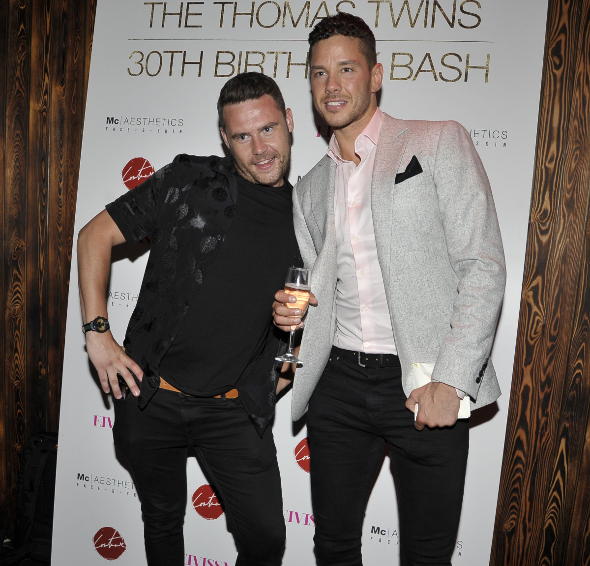 Danny Miller and Scott Thomas at his and Adam's bday bash
