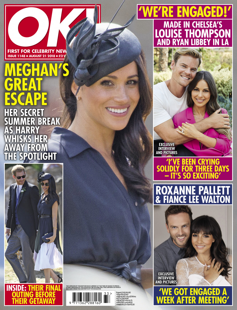 OK MAGAZINE COVER, MONDAY AUG 13