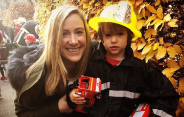 Rachael Bland and her son (Credit: Instagram)