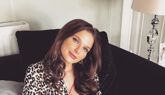 We're obsessed with Helen Flanagan's animal print blouse from Topshop