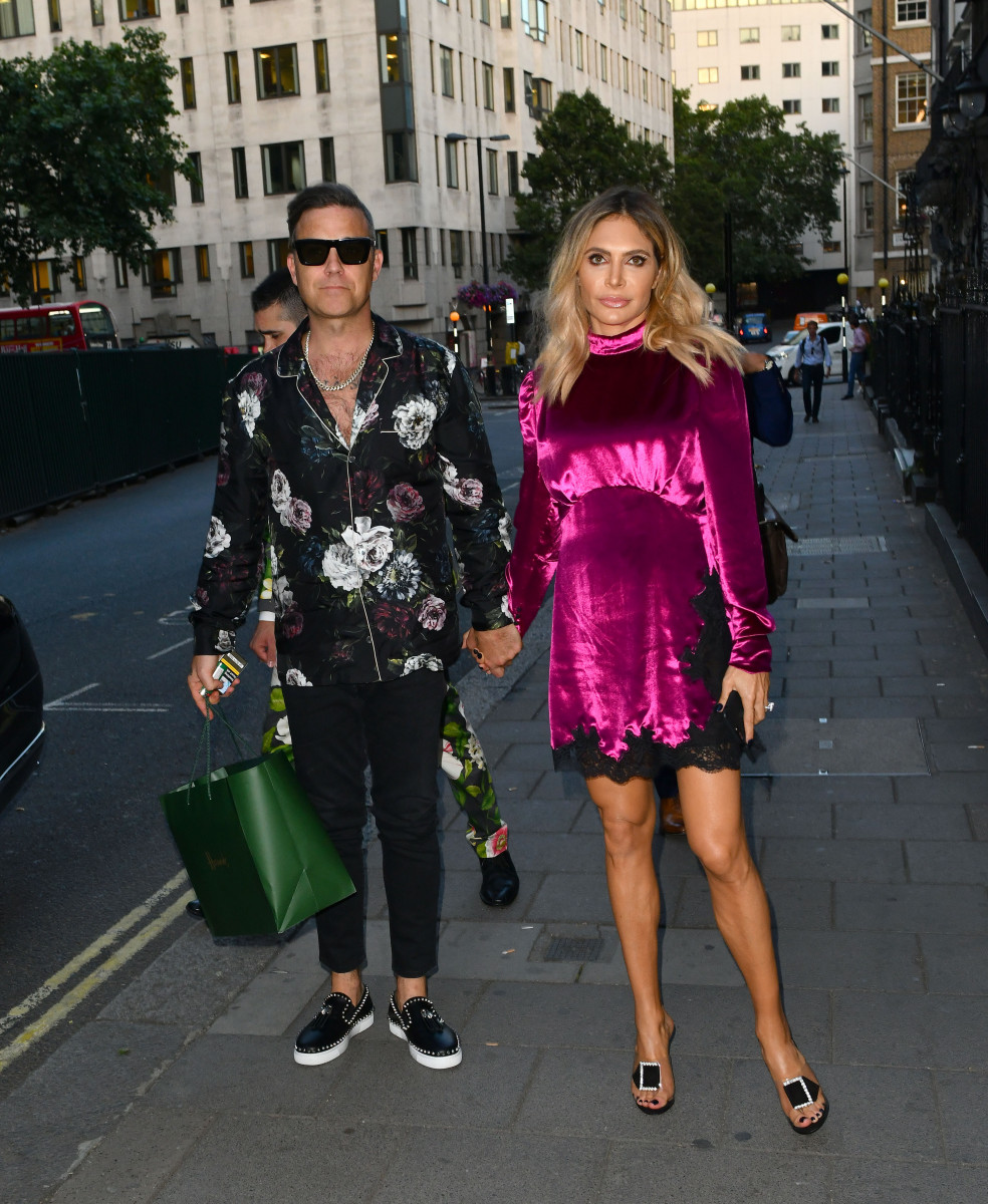 Robbie Williams and Ayda, Ayda Field and Robbie Williams arriving at Annable's