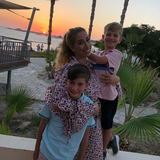 Stacey Solomon and her two sons