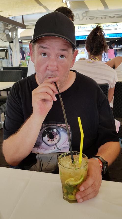 Johnny Vegas on holiday