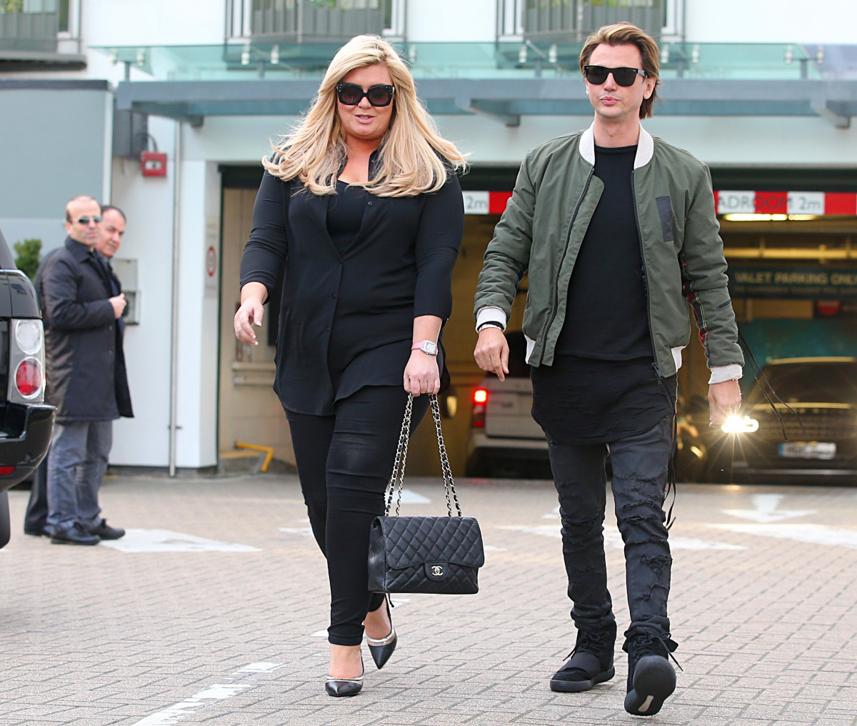 Gemma Collins is seen in London with Jonathan Cheban.
