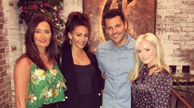 Michelle Keegan and Mark Wright's friend Helen Rigby on left (Credit: Instagram)