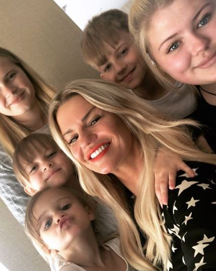 Kerry Katona with her children as Heidi auditions for The Voice