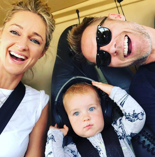 Storm and Ronan Keating with their son Cooper