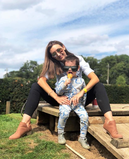 Catherine Tyldesley and son Alfie